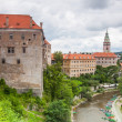 Panorama of Cesky Krumlov, Czech Republic. — 图库照片