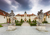 VALTICE, CZECH REPUBLIC - AUGUST 10, 2012: The palace Lednice-Valtice complex is the largest complex of its type in the world. World Heritage Site by UNESCO. — Stock Photo
