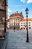 PILSEN (PLZEN), CZECH REPUBLIC - AUGUST 12, 2012: Famous, renaissance Town Hall in Pilsen (Plzen). It stands on the old market square as against the Cathedral of St. Bartholomew. — Stock Photo