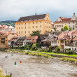 View of the Cesky Krumlov, Czech Republic  World Heritage Site by UNESCO - Stock Photo