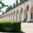 Kromeriz, Czech Republic August 15, 2012: Colonnade of length 224 m with statues depicting characters from Greek mythology, UNESCO World Heritage Site. — Stock Photo