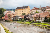 View of the Cesky Krumlov, Czech Republic World Heritage Site by UNESCO — Stock Photo
