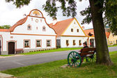 Holasovice, Czech Republic, August 11, 2012: village Holasovice, UNESCO World Heritage Site. Buildings in the baroque style. — Stock Photo