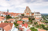 Panorama of Znojmo. Church of St. Nicholas and St. Wenceslas Chapel, Czech Republic. — Stock Photo