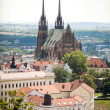 The Cathedral of St  Peter and St  Paul, Petrov in Brno, Czech Republic - Stock Photo