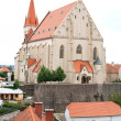 Stock Photo: Church of St Nicholas and St Wenceslas Chapel in Znojmo, Czech Republic