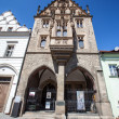Stone House is one of the most beautiful in the Czech Republic (Kutna Hora) today preserved late Gothic town houses. - Stock Photo