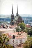 The Cathedral of St Peter and St Paul, Petrov in Brno, Czech Republic — Stock Photo