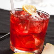 Red drink with ice — Stock Photo #22036363