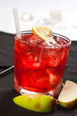 Red drink with ice — Stock Photo