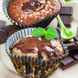 Tasty chocolate muffins — Stock Photo #22280033