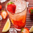 Stock Photo: Strawberry drink