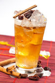 Drink with raisins and cinnamon — Stock Photo