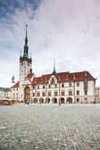 Olomouc, Czech Republic - May 7, 2013: Olomouc Town Hall from XIV century, rebuild in XV century. Partly gothic. — Stock Photo