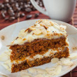 Carrot cake and coffee — Stock Photo #27130137