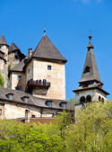 Oravsky Podzamok, Slovakia - May 10, 2008: Most beautiful castle in Slovakia. Build in XIII century. — 图库照片