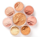 Face powder colors, top view — Stock Photo
