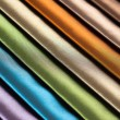 Samples of different colors fabric — Stock Photo
