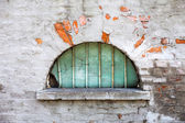 Old semicircular window — Stock Photo
