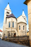 Prague, Czech Republic St Georges Basilica and convent Present Romanesque — Stock Photo