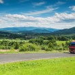 Panoramic view of Bieszczady mountains, Poland — Stock Photo
