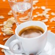 Espresso caffee, almond flavor — Stock Photo