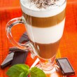 Coffee mocha, coffee with chocolate — Stock Photo