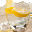 Drink with lemon — Stock Photo