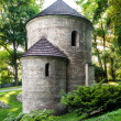 Romanesque St Nicholas Rotunda on Castle Hill in Cieszyn, Poland One of the oldest romanesque monuments in Polish This Rotunda is shown on 20 polish zloty banknote reverse — Stock Photo #30872923