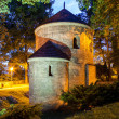 Night view of the Romanesque St Nicholas Rotunda on Castle Hill in Cieszyn, Poland One of the oldest romanesque monuments in Polish This Rotunda is shown on 20 polish zloty banknote reverse — Stock Photo #30873251