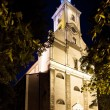 Stock Photo: Night view of Evangelical Church in Cieszyn It is largest Protestant church in Poland