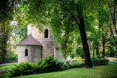 Romanesque St Nicholas Rotunda on Castle Hill in Cieszyn, Poland One of the oldest romanesque monuments in Polish This Rotunda is shown on 20 polish zloty banknote reverse — Stock Photo