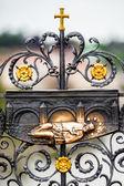 John Nepomuk carving on the Charles bridge, Prague, Czech Republic — Stock Photo