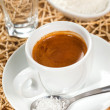 Coffee espresso, coconut flavor — Stock Photo