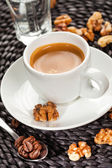 Coffee espresso, nutty flavor — Stock Photo