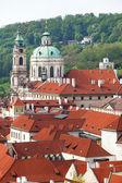 Prague, çek cumhuriyeti mala strana bölgesinin ana görünüm — Stok fotoğraf