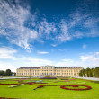 Wide sunny panoramic view of Schonbrunn Palace in Vienna, Austria. — Stock Photo
