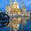 Baroque church Karlskirche in Vienna Austria — Stock Photo
