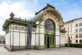 Vienna in Austria. Karlsplatz Stadtbahn Station. Jugendstil architecture Vienna secession station was designed by Otto Wagner. — Stock Photo