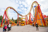Vienna, Austria - September 02, 2013: Prater Amusement Park. Large public park in Vienna. — Stock Photo