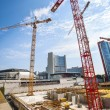 Construction site with cranes — Stock Photo #36372435