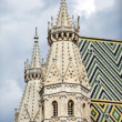 Two side Romanesque towers on the west front of the St  Stephen s Cathedral in Vienna, Austria  — Stock Photo