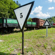 Narrow-gauge railway, steam train in Cisna, in Bieszczady mountains, Poland — Stock Photo #38147043