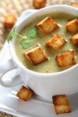Spinach cream with coriander — Stock Photo