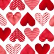 Pattern made of hearts, isolated. Valentines Day — Stock Photo #39517147