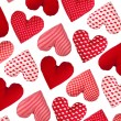 Oblique pattern made of hearts, isolated. Valentines Day — Stock Photo #39517159