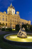 Building of the Imperial Natural History Museum in Vienna, Austria  Night view — Stock Photo
