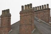 Old English house Chimneys — Stock Photo