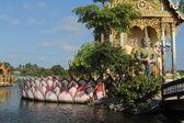 Tempio Wat plai laem, samui, Thailandia — Foto Stock