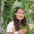 Woman in traditional Russian (slavic) costume — Foto Stock #49653439